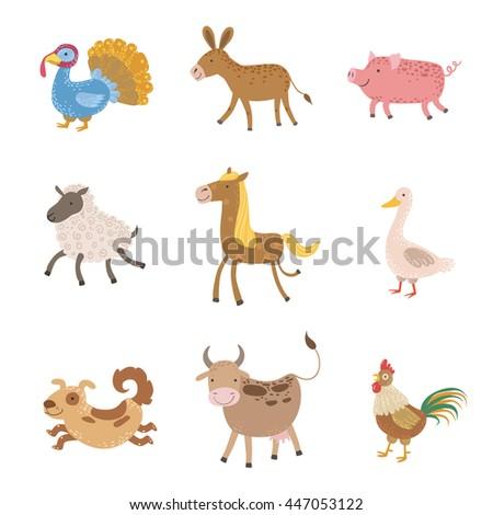 Farm Animals Collection - stock vector