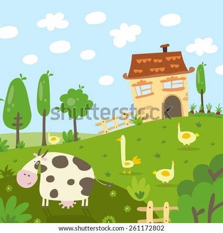 farm animals friends print