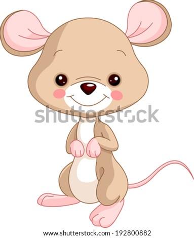 Farm animals. Illustration of cute Mice - stock vector