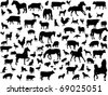 farm animals - vector - stock photo