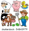 Farm cartoons collection - vector illustration. - stock vector