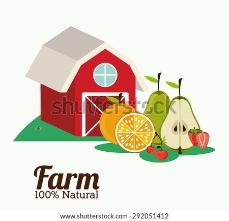 Farm design over white background, vector illustration - stock vector