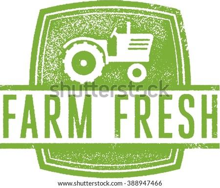 Farm Fresh Market Stamp - stock vector