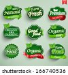Farm fresh, organic food label, badge or seal - stock