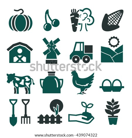 farm icon set