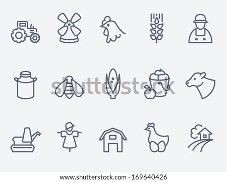 Farm icons - stock vector
