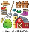Farm theme collection 1 - vector illustration. - stock photo