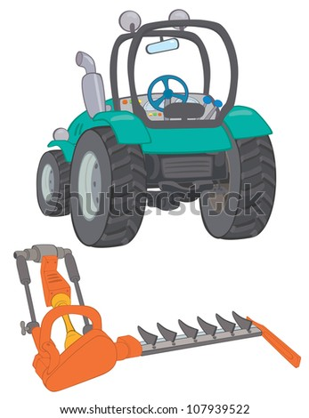 Farm tractor with mower