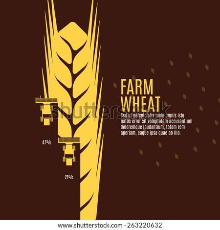 Farm wheat vector illustration - stock vector