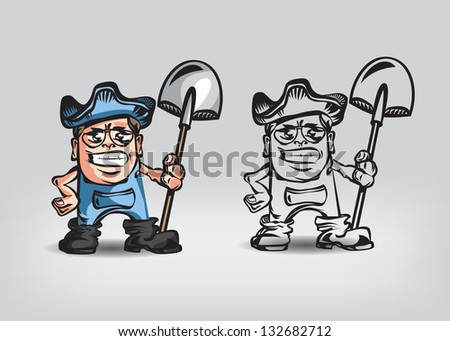 Farmer. Vector illustration - stock vector