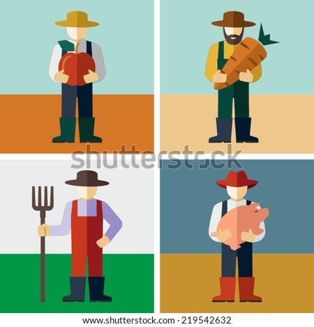 Farmers - stock vector