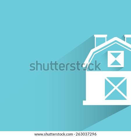 farmhouse - stock vector