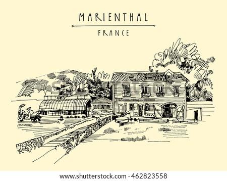 Farmhouse In Marienthal France Europe Cozy European Village And A Farm Hand