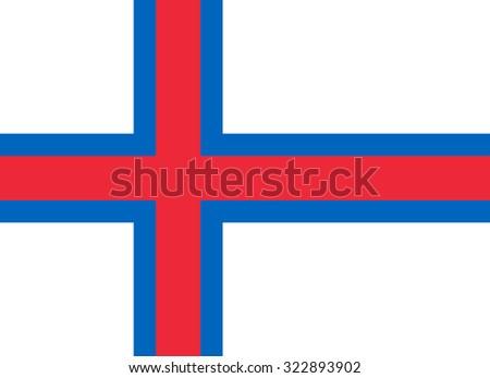 Faroe Island Nation Flag - stock vector