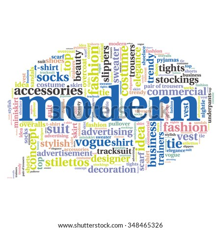 fashion and costume tag word cloud background.