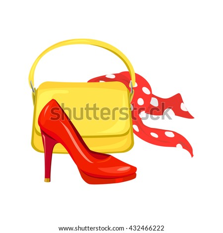 fashion and style. Women's accessories. vector illustration