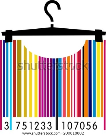 Fashion barcode image  - stock vector
