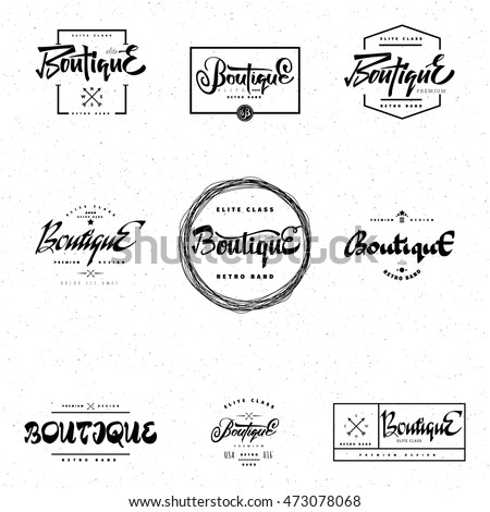 elit templates sticker - fashion boutique premium badge logo sticker stock vector