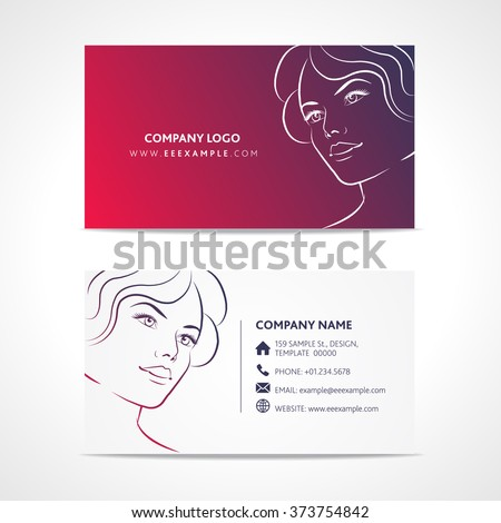 Fashion business card template stock vector 373754842 shutterstock fashion business card template flashek Images