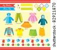 fashion clothing set - stock vector