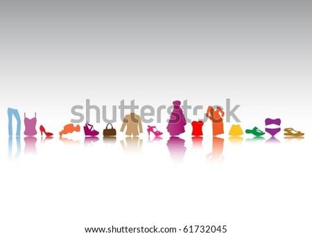 Fashion collection - stock vector