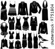 fashion dress vector - stock vector