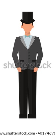 Fashion elegant gentleman and style clothing gentleman. Gentleman fashion elegant male style classic clothing. Elegant man of the nineteenth century vintage gentleman engraved vector illustration. - stock vector