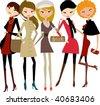 fashion girl - stock vector