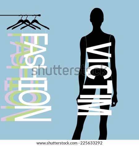 Fashion girl for your design - stock vector