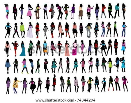 Fashion girls - stock vector