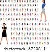 fashion girls. part 3. - stock vector