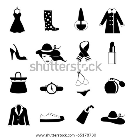 fashion icons - stock vector