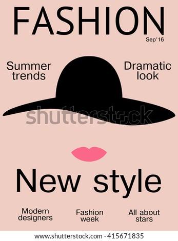 Fashion Magazine Cover Design Template Simple Stock Vector 415671835 ...
