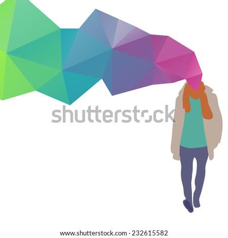Fashion man abstract, vector illustration - stock vector