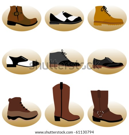 fashion man shoes - stock vector
