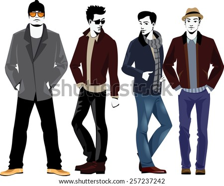 fashion men stock vector 257237242 shutterstock rh shutterstock com Male Vector Character Male Vector Character