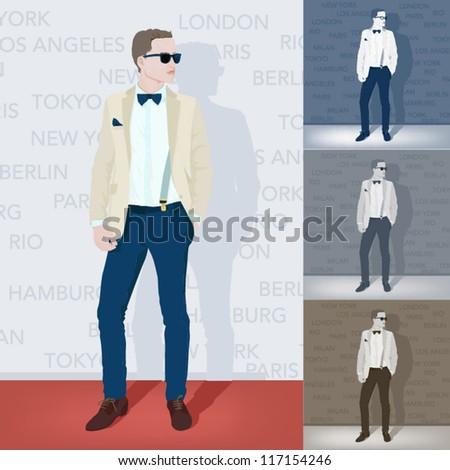 Fashion model - stock vector