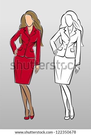 Business Women Fashion Sketches