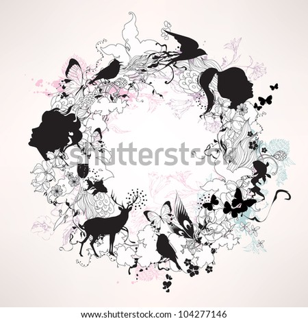Fashion multicolored illustration - stock vector