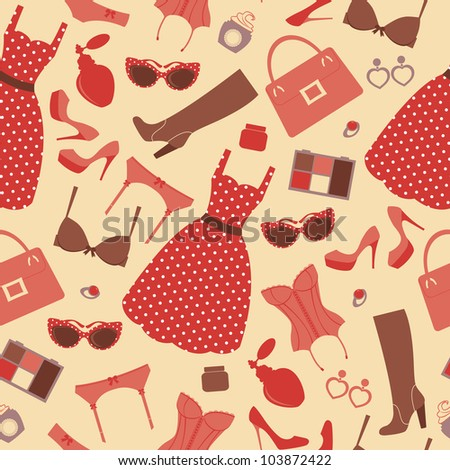 Fashion pattern - stock vector