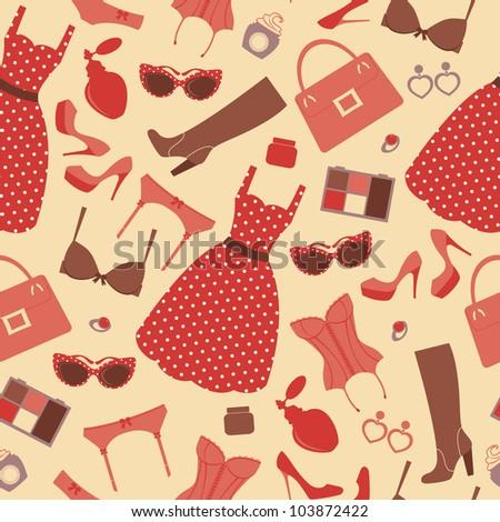 Fashion pattern - stock vector