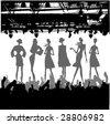 Fashion Podium Silhouette - stock vector