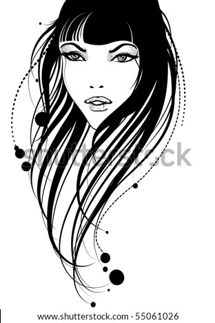 Fashion portrait - stock vector