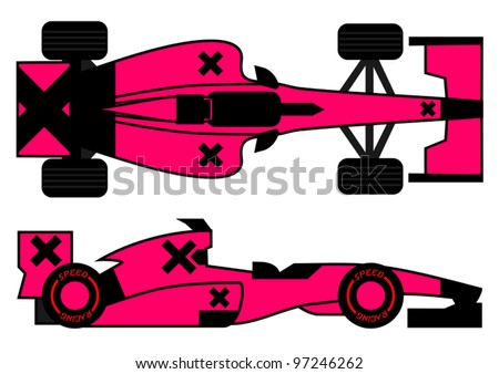 Fashion racing car - stock vector