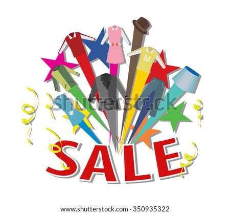 fashion sale concept vector