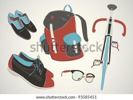 Fashion set - stock vector