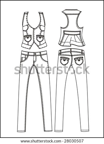 fashion set design 1 - stock vector