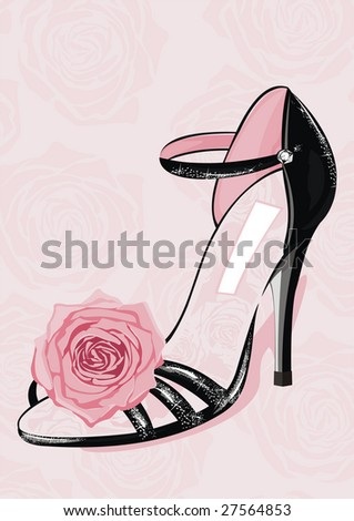 fashion shoe - stock vector