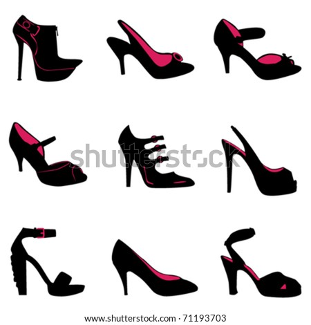 fashion shoes silhouettes