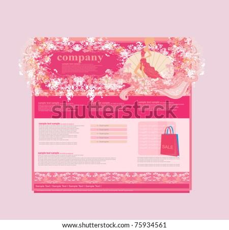 Fashion shopping Website template - stock vector